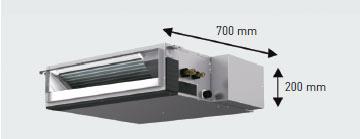 Mitsubishi electric sez kd71val inverter condizionatore - Unita esterna condizionatore dimensioni ridotte ...